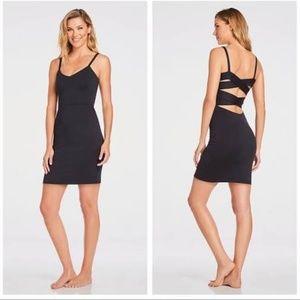 Fabletics Malindi strappy black bodycon dress XS